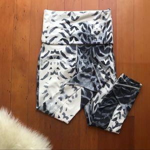 Lulu Lemon Fold-over Print Leggings